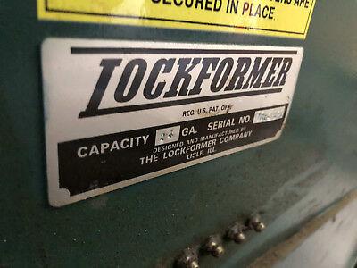 Lockformer 24 Gauge Pittsburg Machine Sheet Metal Machinery