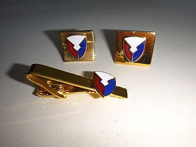 Pair USAF MATERIEL COMMAND Cuff Links + Matching Tie Clasp Bar - *Great Gift*