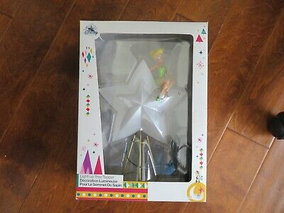 Disney Tinkerbell Battery Powered Fading In Out Star Led Christmas Tree Topper