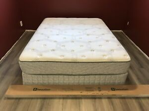 Queen mattress and metal frame