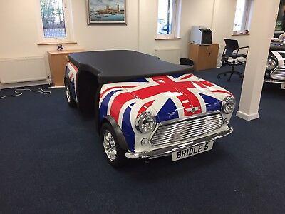 The Ultimate Desk Cooper Classic Mini Car Furniture Desk Union Jack Austin Rover