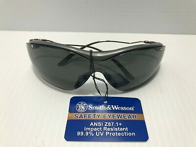 Smith & Wesson Sigma Series Safety Eyewear Smoke Lens Gun Metal Glasses Protect