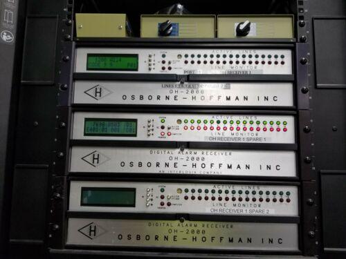 Osborne Hoffman OH2000 Central Station Alarm Receiver w/ 4 (2-line) line cards!