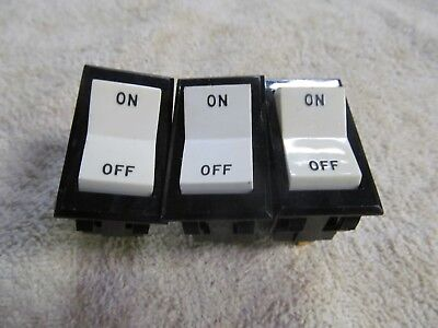 3 Carling Flush Mount Rocker Switches Momentary Switch.