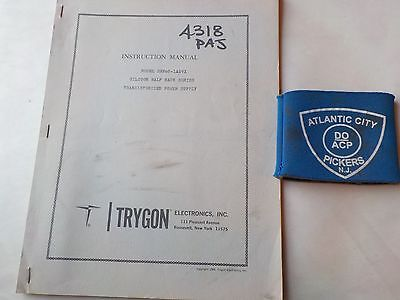 Trygon Model Shr60-1a0vx Power Supply Instruction Manual