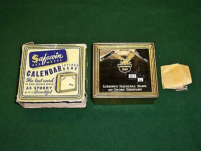 Vintage Bank Promotional Advertising Bank Libery National Month Day Display+ Key