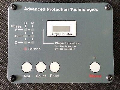 Apt Advanced Protection Technologies Surge Counter Alarm Panel Monitor Display
