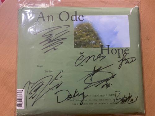 signed SEVENTEEN autographed 3rd album AN ODE+signed poster K-POP 092019