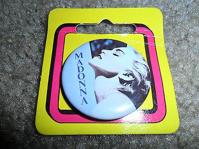 """Vintage 1986 Madonna """"True Blue"""" 1.5 inch button"""