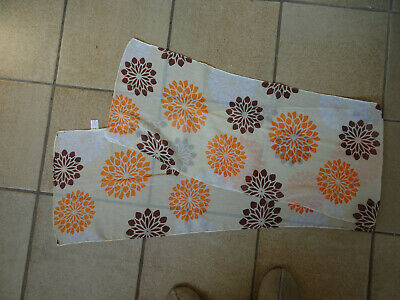 Long foulard léger jaune, orange et brun 31x160 cm bon état