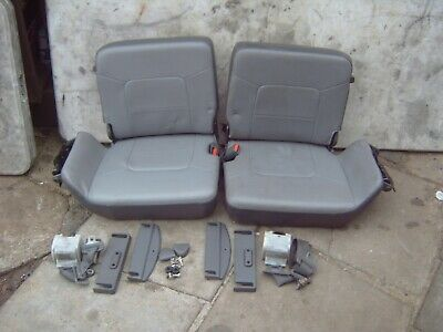 pajero/shogun 2.8 2.5 lwb 3rd row jump seats with seat belts leather