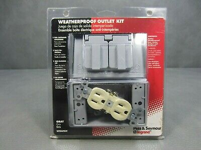 Brand New Pass Seymour Weatherproof Safety Electrical Outlet Kit Wpoutkit