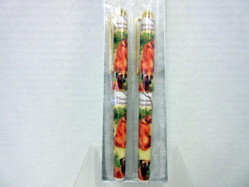 Rhodesian Ridgeback Pet Dog Designer Pen Set - 2 Pens - Gift Box Ruth Maystead