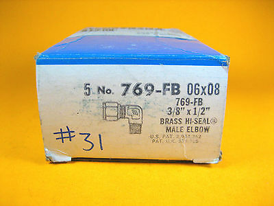 Imperial Eastman - 769-fb 06x08 - Brass Hi-seal Male Elbow 38x12 Box Of 5