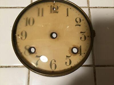 Antique Waterbury Mantel Clock Dial Bezel And Glass With Original Screws.