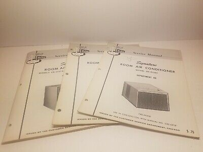 3 Montgomery Ward Service Manuals For Room Air Conditioners Vinatge 1960s