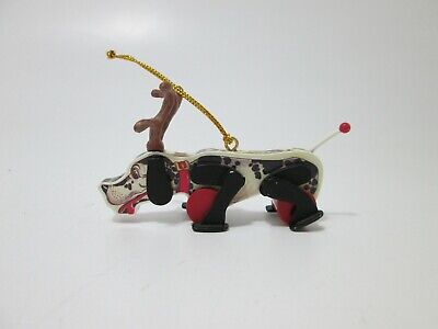 Vtg Fisher Price Snoopy Sniffer Dog #180 Pull Toy Replica Christmas Ornament