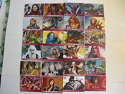2011 Marvel Dangerous Divas 72 card Set of Marvel Women by Rittenhouse