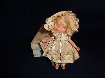 Nancy Ann Bisque Storybook Doll #130 Dainty Dolly Pink & Blue with Box
