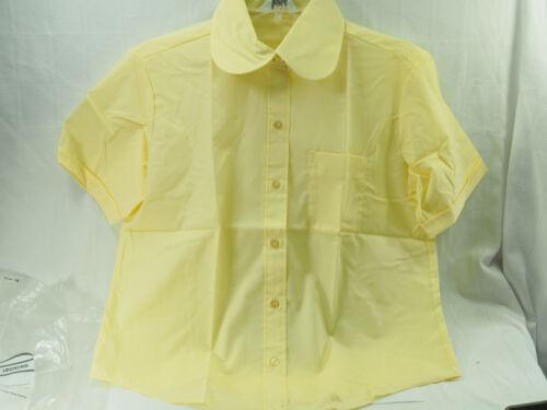 Vintage New Grants Short sleeve womens  shirt Size 38 Peter Pan collar Yellow