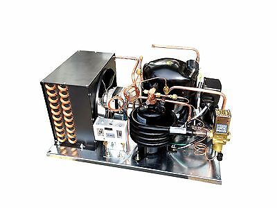 Combo Airwater Condensing Unit 1 Hp Low Temp R404a 115v Embraco Nt2180gkv1