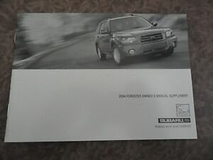 2004-Subaru-Forester-Owners-Manual-SUPPLEMENT