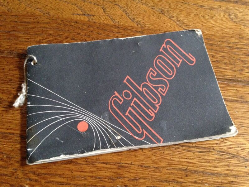 Vintage Gibson Guitars 1960s Early 1970s Hang Tag Manual Case Candy