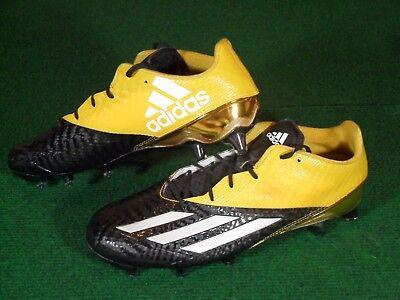 New Mens Adidas Adizero 5 Star 5.0 Low TD Football Cleats Black Yellow Gold 12.5
