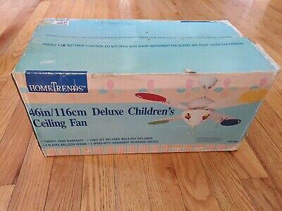 Hometrends 46 Inch/116CM Deluxe Children's Ceiling Fan 3 Speed Model DF01596XID