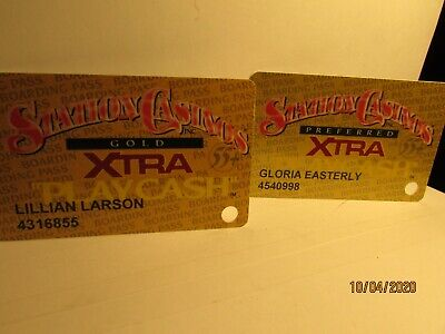 Station Casino's- XTra Players Cards- (2) Gold  + Preferred-55+ - nice