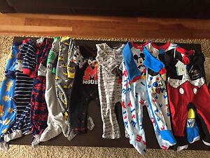 Lot of boys 12 month sleepers