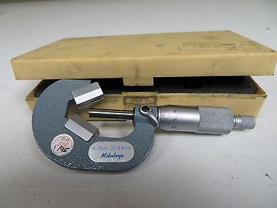 Mitutoyo 10-25mm.01mm V-anvil Micrometer W Case - Fr59