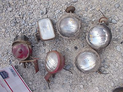 6 Farmall Ih Ford Jd Massey Tractor Front Rear Head Light Lights Bracket Flasher
