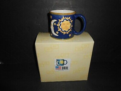 Coffee Mugs In Bulk (Moon Sun and Stars CAS VERO Hand Painted Coffee Mugs Cups Set of 4 in box)