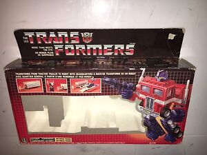 Transformers Optimus Prime Generation 1 Box 1984