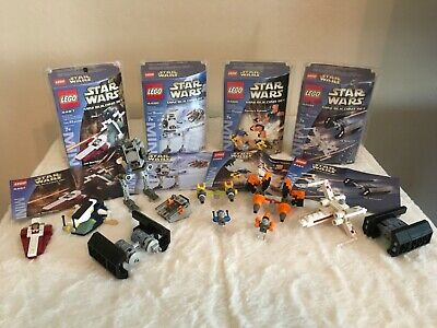 Lego Star Wars Mini Building Sets 4484, 4485, 4486 and 4487 - 100% complete