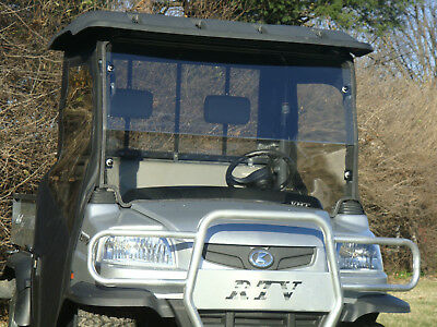 Kubota RTV 900/1120 Premium Economy 2 Piece Lexan Windshield with Dual Vents