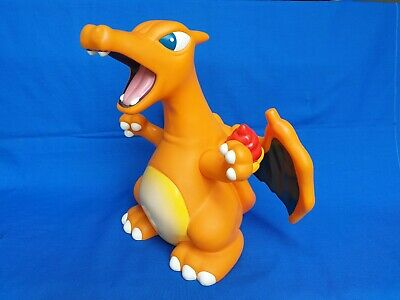 "Pokemon Charizard Tomy Figure Coin 12"" Piggy Bank 1997 Toy Nintendo Charmander"
