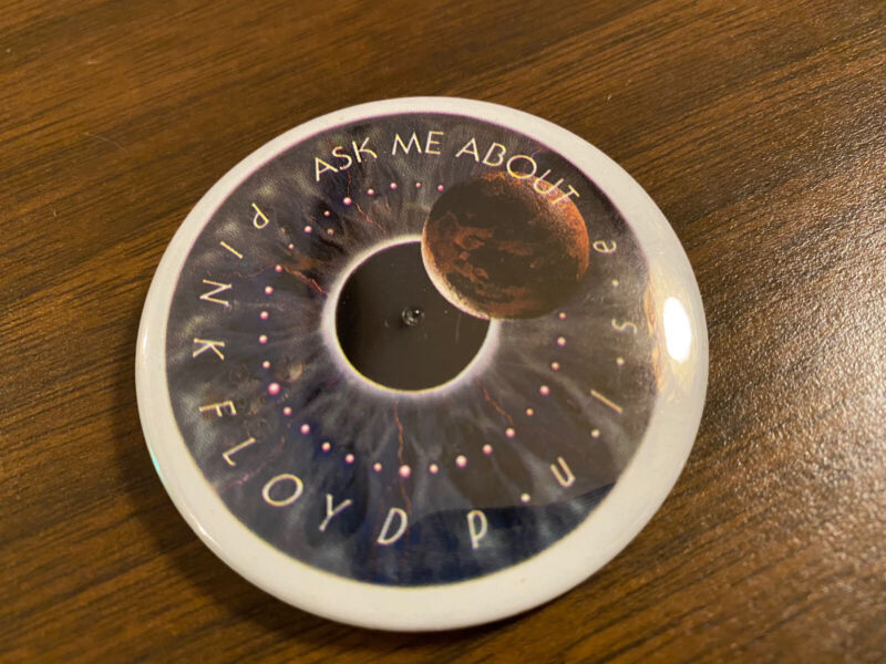 """PINK FLOYD PROMO ONLY """"PULSE"""" Blinking Promo Buttons Rare!!"""