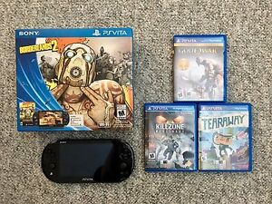 PS Vita with 3 Games, 8gb & 16gb Memory Cards with Original Box
