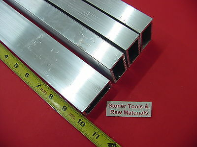 4 Pieces 1x 2x 18 Wall Aluminum Rectangle Tube 6063 T52 X 10 Long .125 W