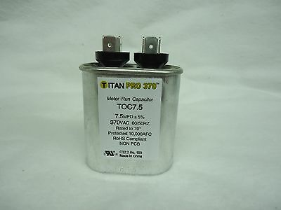 Packard Toc7.5 7.5 Mfd - 370 Vac Oval Run Capacitor Titan Pro New