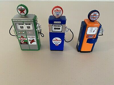 Greenlight Collectibles Vintage Gas Pump Collection Lot Of 3