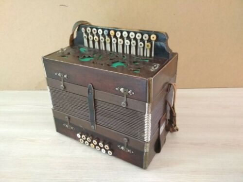 Antique German Accordion.
