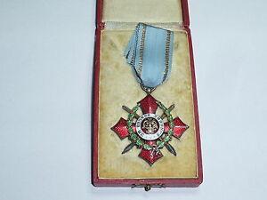 Bulgarien : Kriegsverdienstkreuz V. Klasse mit Kriegsdekoration in Etui
