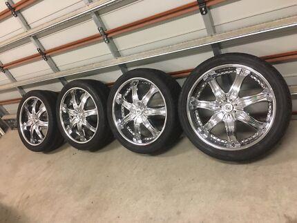 "Lexani Luxury 22"" wheels and tyres to suit Nissan Navara"
