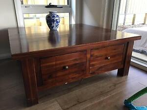 Tea table - Hardwood Timber Solid furniture Macquarie Links Campbelltown Area Preview