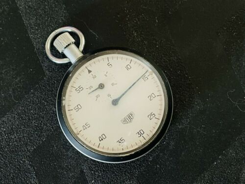 Old Vintage TAG HEUER Handheld Stopwatch Sports Made In Switzerland WORKING