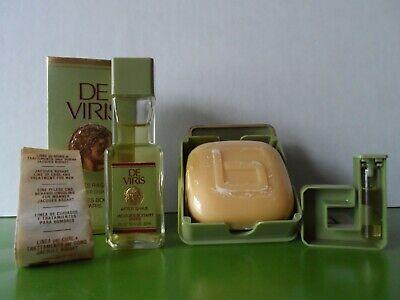 JACQUES BOGART DE VIRIS AFTER SHAVE 2 oz-60 ml , 3.5 oz SOAP , EDT SAMPLE .