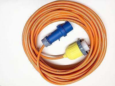 Landanschlusskabel CEE 230V auf Hubbell Kupplung 16A 230V mit 25m Kabel Art. 859 Hubbell Landanschluss